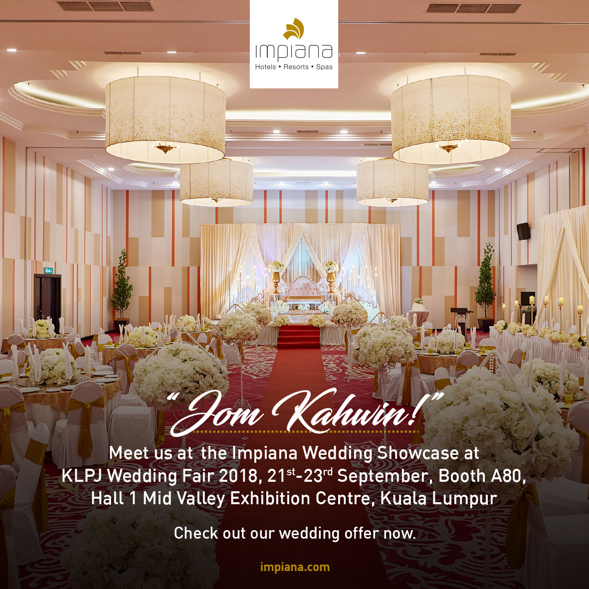 Wedding packages at Impiana Hotel Ipoh! - Impiana Hotel Ipoh